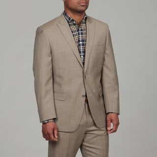 Calvin Klein Men's Tan Wool 2-button Suit