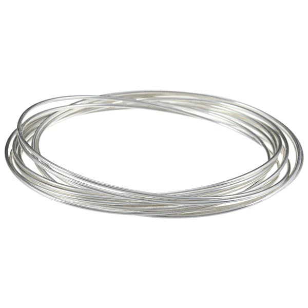 Sunstone Silver Interlocking Multi-ring Bangle Bracelet