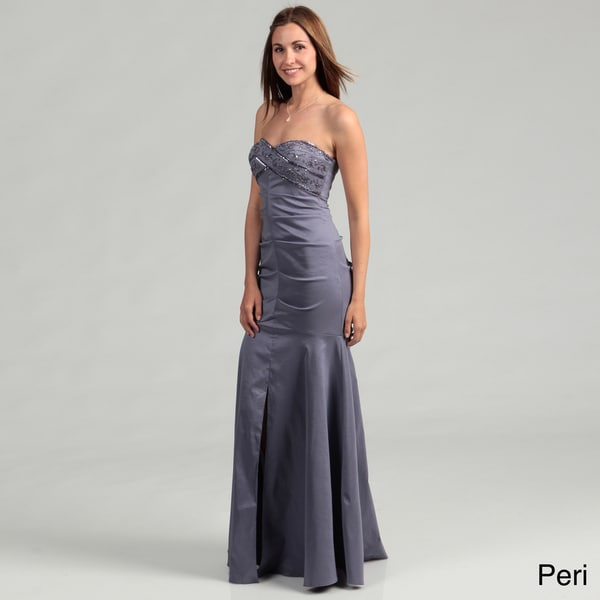 Hailey Adrianna Papell Women's Beaded Ruched Dress