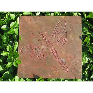 Whimsical Dragonfly Artisan Stone Tile Art for Girls Room