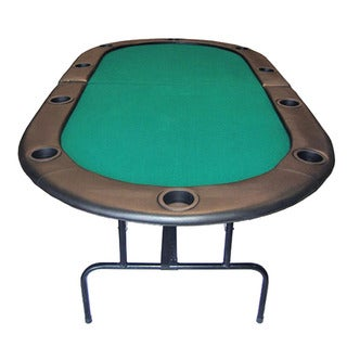 Bi-Fold Green 84-inch Texas Hold'em Poker Table