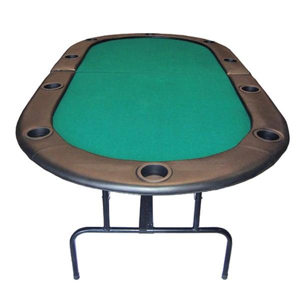 Bi-Fold Green 84-inch Texas Hold'em Poker Table