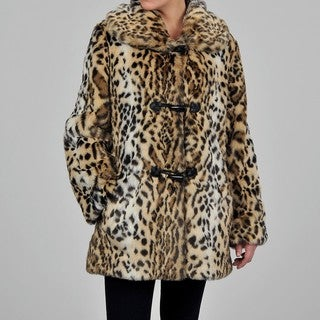 Nuage Women's Ocelot Faux Fur Coat