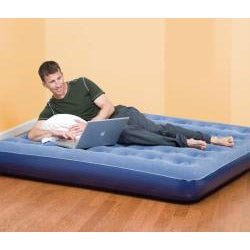 Pure Comfort Low Profile Queen Size Flock-Top Air Bed