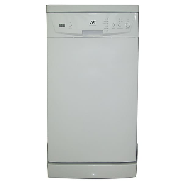 18-inch White Portable Dishwasher