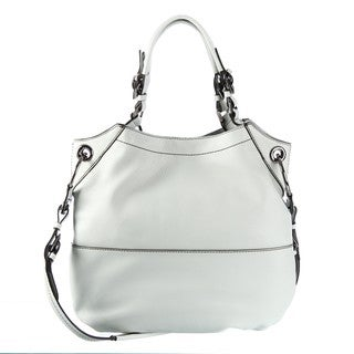 Oryany 'Sydney' Leather Light Grey Shoulder Bag