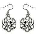 CGC Pewter Celtic Shield of Destiny Drop Earrings