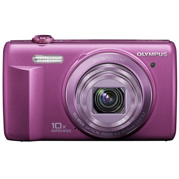 Olympus VR-340 16MP Purple Digital Camera