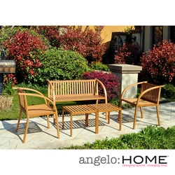 angelo:HOME Vineyard Bamboo Garden 5 Piece Indoor/Outdoor Furniture Set