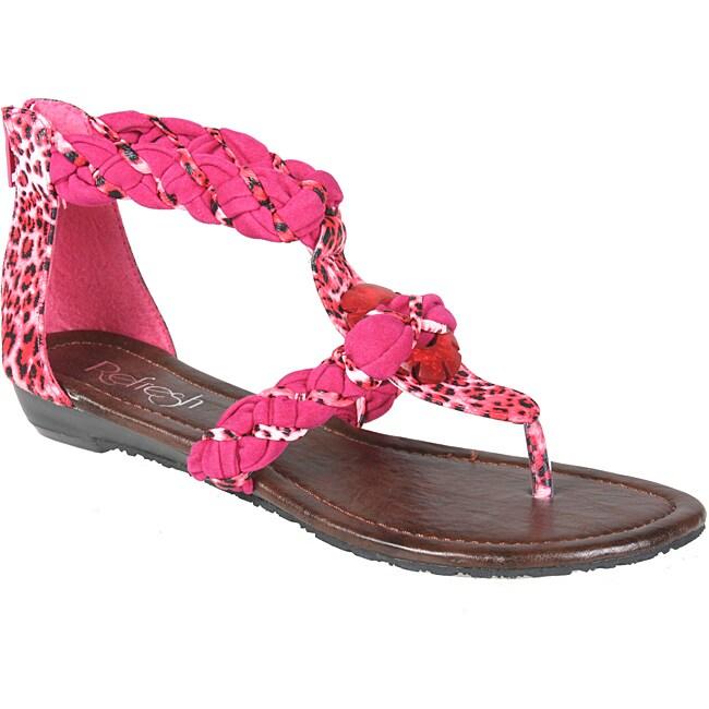 Refresh by Beston Women's 'LEAH-07' T-strap Gladiator Sandals