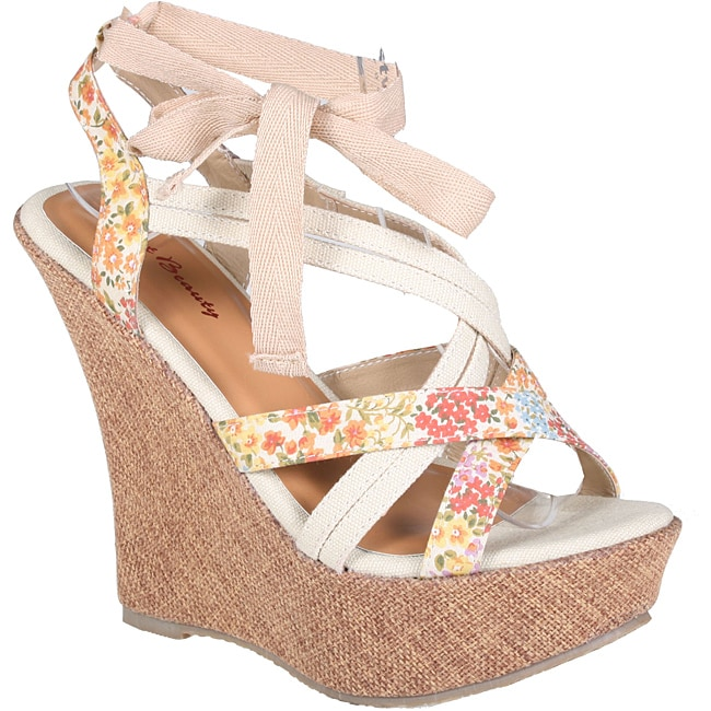 Refresh by Beston Women's 'JUDITH-01' Wedge Sandals