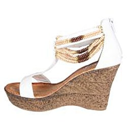 Refresh by Beston Women's 'CABY-03' T-strap Wedge Sandals