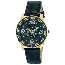 Joshua & Sons Men's Swiss Quartz Diamond Swirl MOP Watch