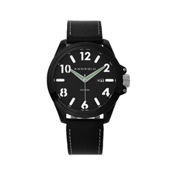 Android Men's 'Decoy' Black Leather Strap Watch