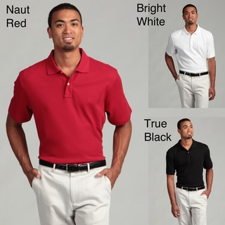 Nautica Men's Two-button Collared Polo Shirt