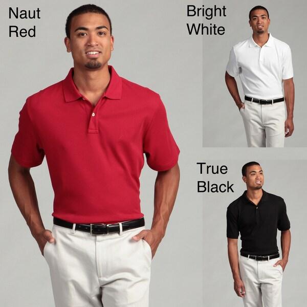 Nautica Men's Two-button Collared Polo Shirt