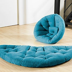 Horizon Blue Fresh Futon Nest