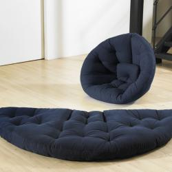 Navy Blue Fresh Futon Nest