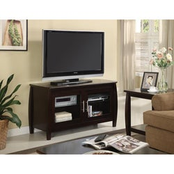 Dark Walnut Veneer TV Stand