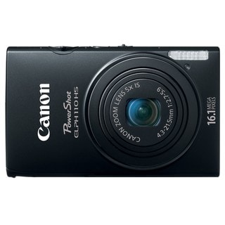 Canon PowerShot ELPH 110HS 16.1MP Black Digital Camera