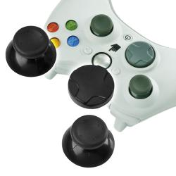 Black Controller Thumb Joysticks with D-Pad for Microsoft Xbox 360