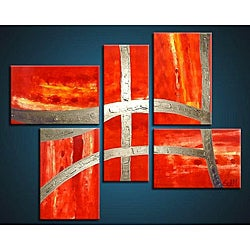 'Victory' Hand-painted 5-piece Canvas Art Set