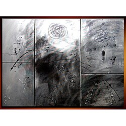 'Crossover' Hand-painted 5-piece Canvas Art Set