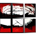 'Sunlight' Hand-painted 6-piece Canvas Art Set