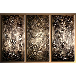 'Richness' Hand-painted 3-piece Canvas Art Set