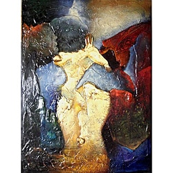 'Mystery' Hand-painted Gallery-wrapped Canvas Art