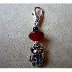 Carnelian and Onyx 'Lady Bug' Charm