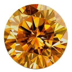 Star Legacy Pet Memorial Diamond - .03 CT Round-Cut Fancy Cognac Accent Diamond