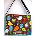 Two Trees Designs Mint Owls Medium Messenger Bag