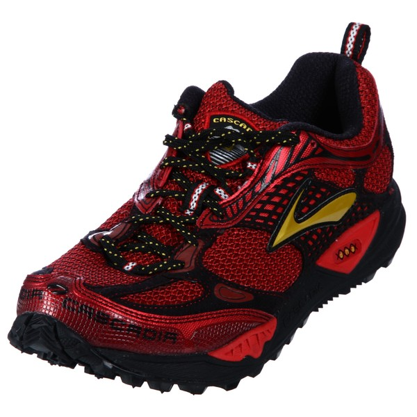 Brooks Men's 'Cascadia' Red Athletic Trail Shoes