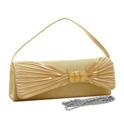 Dasein Satin Glitter Accent Clutch Handbag