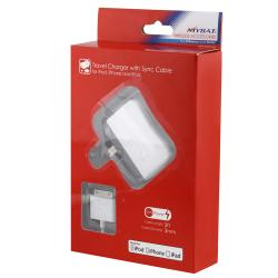 INSTEN Home Button Sticker/ Car and Travel Charger for Apple iPod/ iPhone
