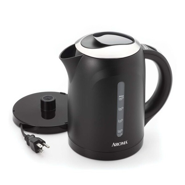 Aroma Black 1.5-liter Electric Kettle
