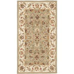 Safavieh Hand-hooked Chelsea Tabriz Sage/ Ivory Wool Rug (2'9 x 4'9)