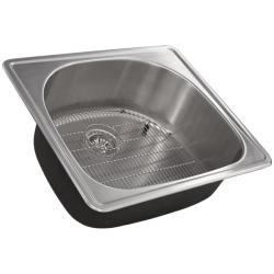 Ticor 16-gauge Steel Overmount Kitchen Sink