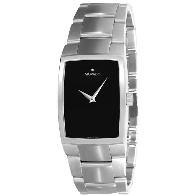 Movado Men's 'Eliro' Stainless Steel Tonneau Watch