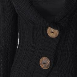 Ci Sono by Adi Junior's Shawl Collar Two-button Ribbed Cardigan