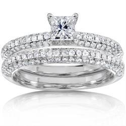 14k White Gold 1ct TDW Diamond Bridal Ring Set (H-I, I1-I2)