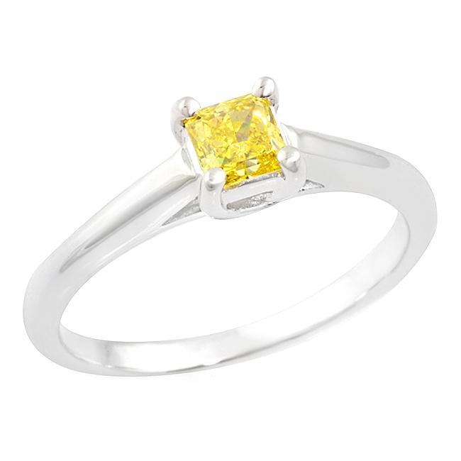 14k White Gold 2/5ct TDW Yellow Diamond Ring