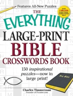 The Everything Large-Print Bible Crosswords Book (Paperback)