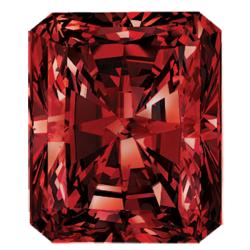 Star Legacy Pet Memorial Diamond - .50 CT Radiant-Cut Fancy Red Diamond