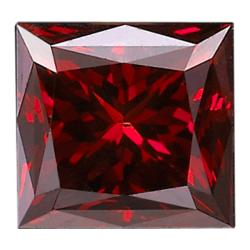 Star Legacy Pet Memorial Diamond - .50 CT Princess-Cut Fancy Red Diamond