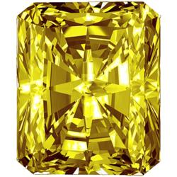 Star Legacy Pet Memorial Diamond - 1.0 CT Radiant-Cut Fancy Yellow Diamond