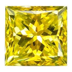 Star Legacy Pet Memorial Diamond - 1.0 CT Princess-Cut Fancy Yellow Diamond