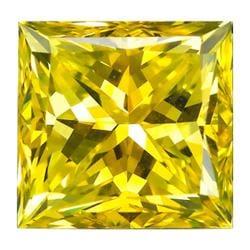 Star Legacy Pet Memorial Diamond - .50 CT Princess-Cut Fancy Yellow Diamond