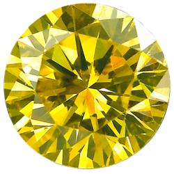 Star Legacy Pet Memorial Diamond - .50 CT Round-Cut Fancy Yellow Diamond